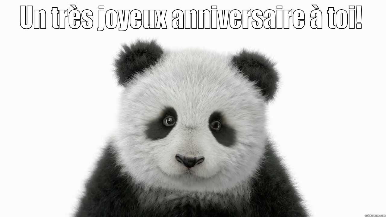 Happy birthday panda! - UN TRÈS JOYEUX ANNIVERSAIRE À TOI!  Misc