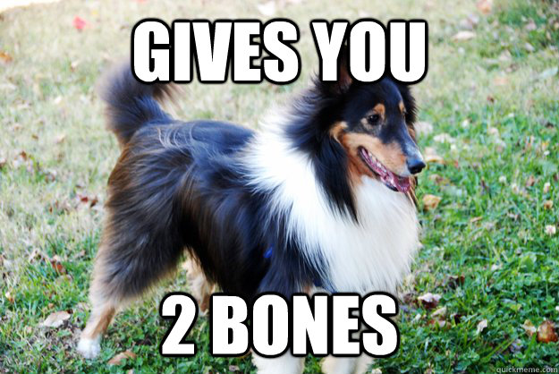 Gives you 2 bones - Gives you 2 bones  Misc