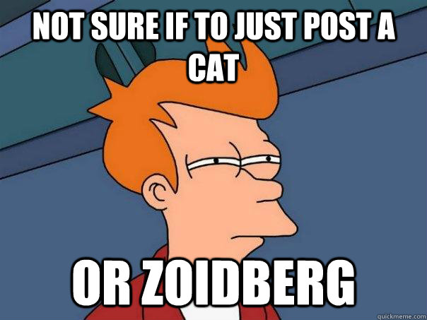not sure if to just post a cat or Zoidberg - not sure if to just post a cat or Zoidberg  Futurama Fry