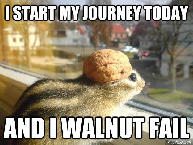 I start my journey today And I walnut fail - I start my journey today And I walnut fail  Adventure Chipmunk