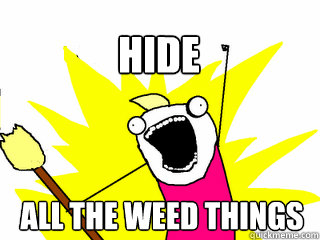 All the weed things hide