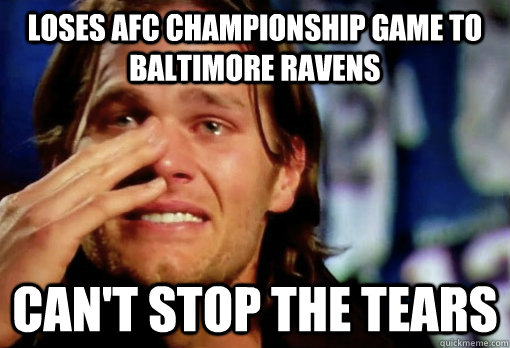 Loses Afc Championship Game To Baltimore Ravens Cant Stop The Tears