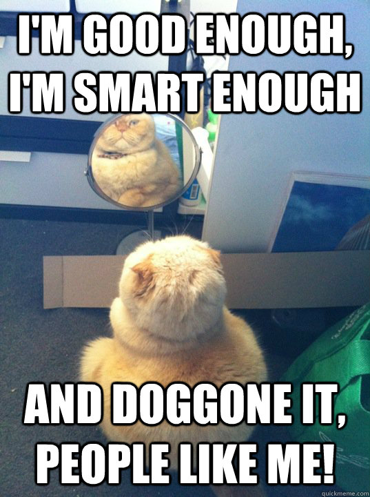 I m good enough i m smart enough gif
