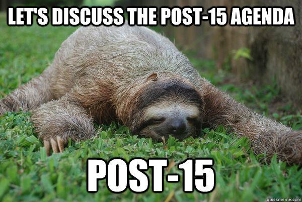 let's discuss the post-15 agenda post-15