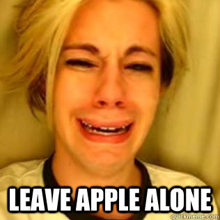 Leave Apple Alone -  Leave Apple Alone  Cry Baby Chris Crocker
