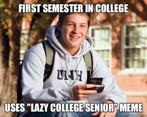 First semester in college Uses