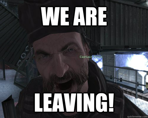 we are leaving! - we are leaving!  Misc