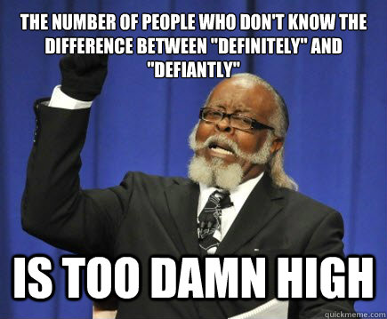 the number of people who don't know the difference between
