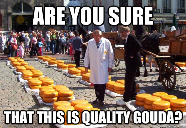 are you sure that this is quality Gouda? - are you sure that this is quality Gouda?  Choosy Cheese Buyer