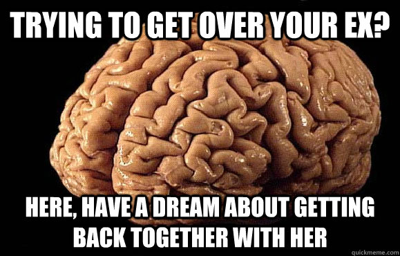 Trying to get over your Ex? Here, have a dream about getting back together with her