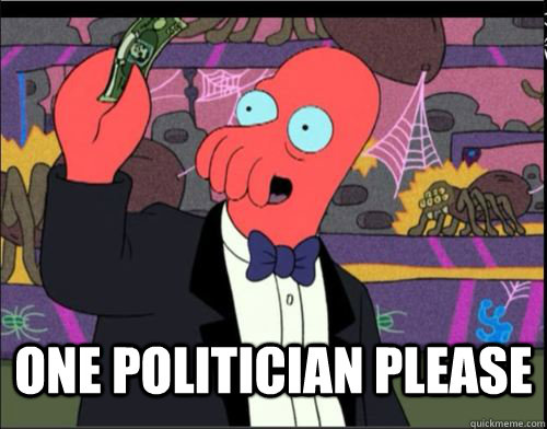 One politician Please