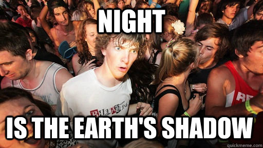night is the earth's shadow - night is the earth's shadow  Sudden Clarity Clarence