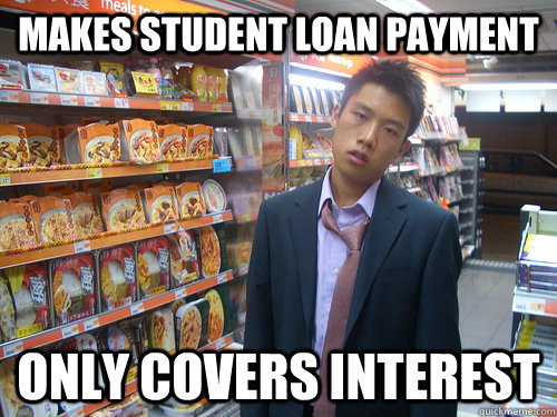 c0102176a0a7b54e37cfb445d2c509b32363037d810ae1be70ea7f2790269ade makes student loan payment only covers interest disenchanted