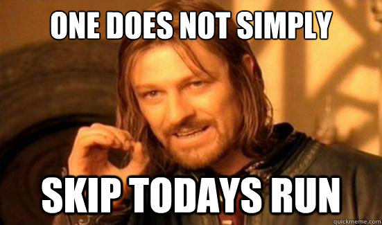 One Does Not Simply skip todays run - One Does Not Simply skip todays run  Boromir