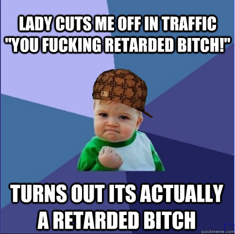 lady cuts me off in traffic