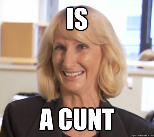 IS A CUNt  Wendy Wright