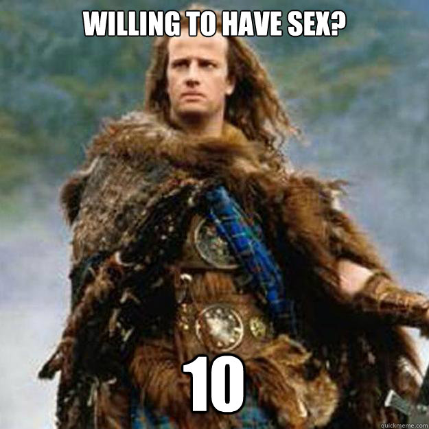 willing to have sex? 10