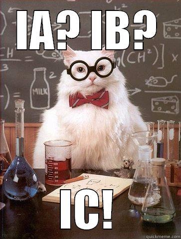 IA? IB? IC! Science Cat