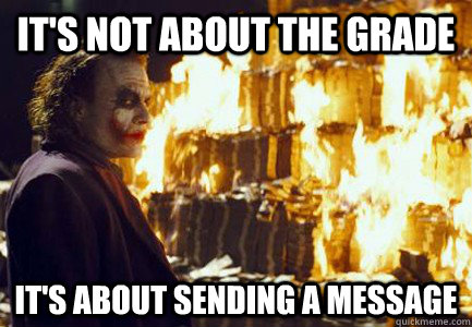 It's not about the grade It's about sending a message - It's not about the grade It's about sending a message  Sending a message