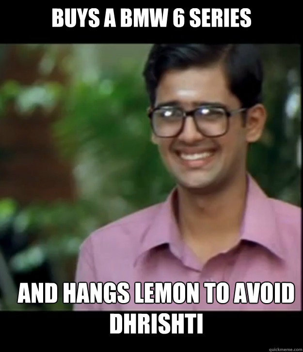 Buys A BMW 6 SERIES AND HANGS LEMON TO AVOID DHRISHTI Caption 3 goes here  Smart Iyer boy