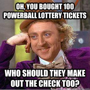 100 powerball tickets