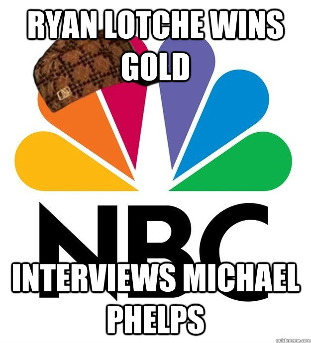 Ryan Lotche wins gold Interviews Michael Phelps