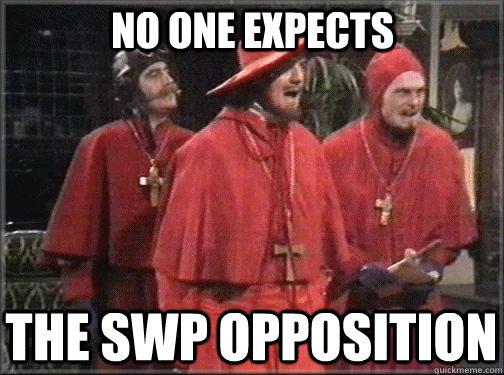 c1391143c3fb9bd0e255c280b49dd8d3ffef2ed0b5151d6b71d2de796d92da04 spanish inquisition memes quickmeme,Spanish Inquisition Meme