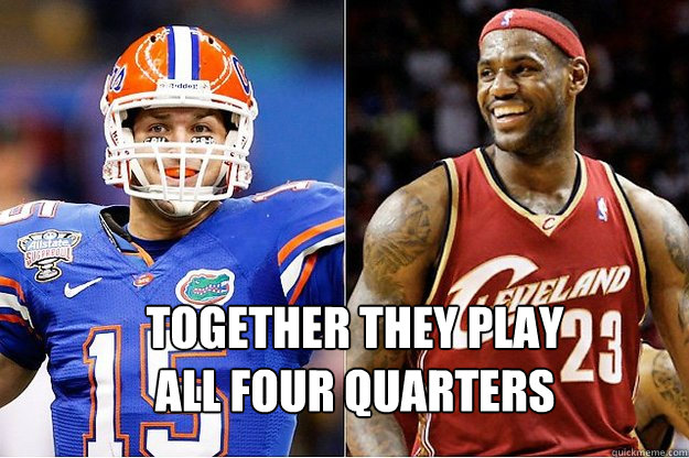 Together they play all four quarters