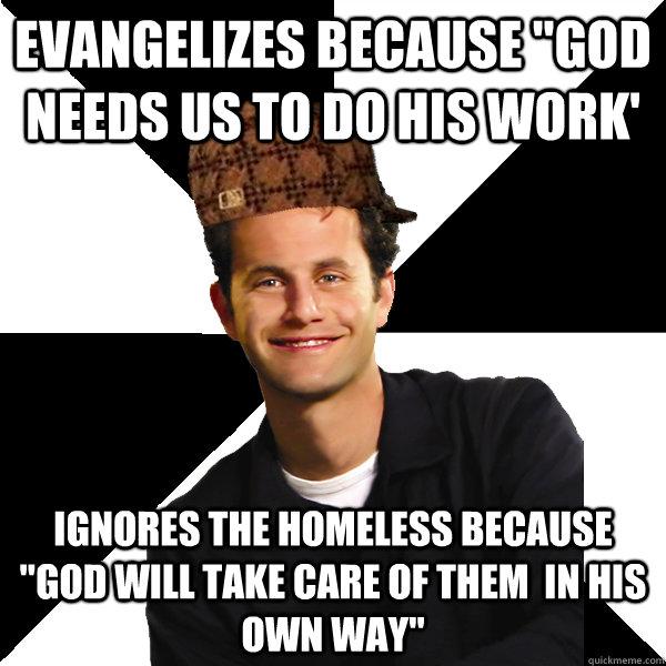 evangelizes because