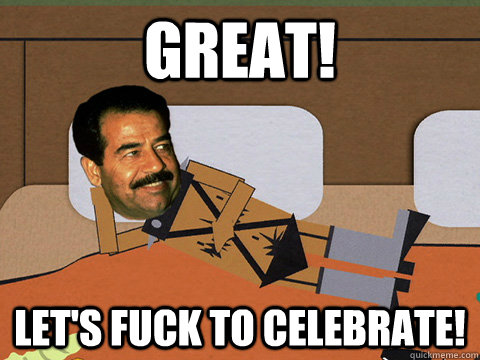 GReat! Let's fuck to celebrate!