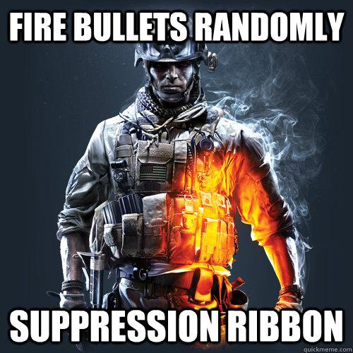 Fire Bullets Randomly Suppression Ribbon