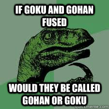 If Goku and Gohan Fused would they be called Gohan or Goku - If Goku and Gohan Fused would they be called Gohan or Goku  Bo Philosorapter