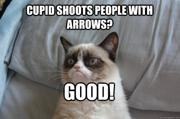 Cupid shoots people with arrows? GOOD! - Cupid shoots people with arrows? GOOD!  GrumpyCatOL