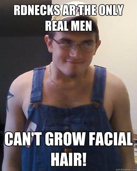 Can t grow facial hair