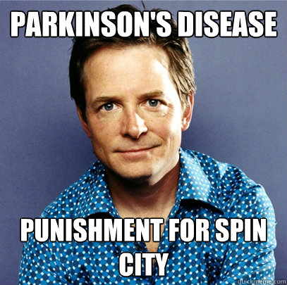 parkinson's disease  punishment for spin city  Awesome Michael J Fox