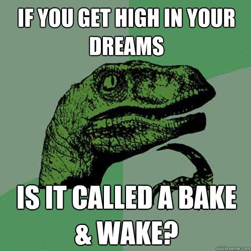 If you get high in your dreams Is it called a Bake & wake? - If you get high in your dreams Is it called a Bake & wake?  Philosoraptor