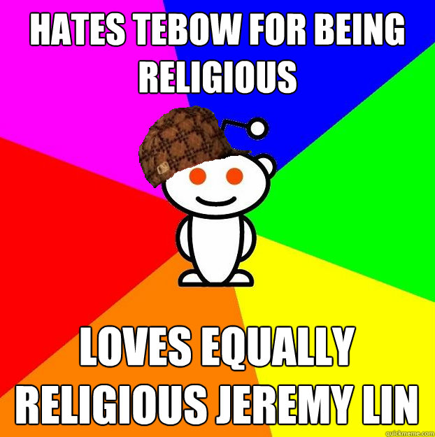 HATES TEBOW FOR BEING RELIGIOUS LOVES EQUALLY RELIGIOUS JEREMY LIN - HATES TEBOW FOR BEING RELIGIOUS LOVES EQUALLY RELIGIOUS JEREMY LIN  Misc