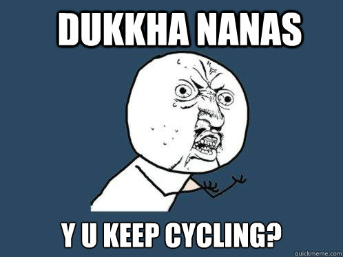 Dukkha nanas  Y U keep cycling? - Dukkha nanas  Y U keep cycling?  Y U No