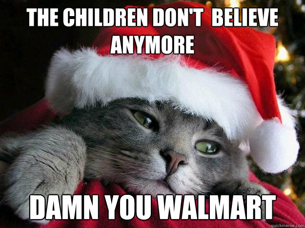 the children don't  believe anymore damn you walmart