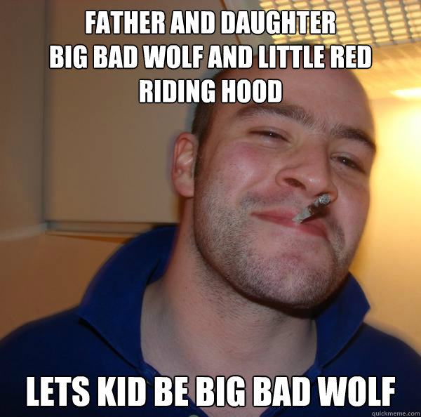 father and daughter Big bad wolf and little red riding hood lets kid be big bad wolf - father and daughter Big bad wolf and little red riding hood lets kid be big bad wolf  Misc