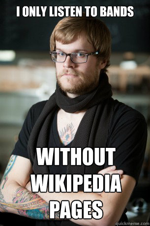 i only listen to bands without wikipedia pages - i only listen to bands without wikipedia pages  Hipster Barista
