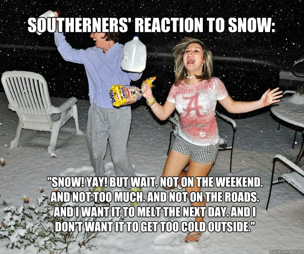 SOUTHERNERS' REACTION TO SNOW: