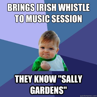 Brings Irish whistle to music session They know