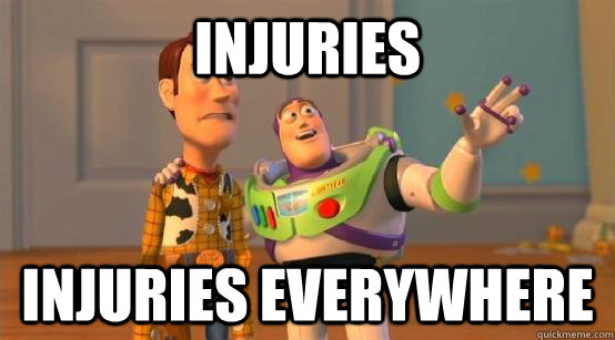 Injuries injuries everywhere - Injuries injuries everywhere  Buzz Glitter