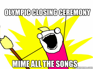 Olympic closing ceremony Mime all the songs - Olympic closing ceremony Mime all the songs  All The Things