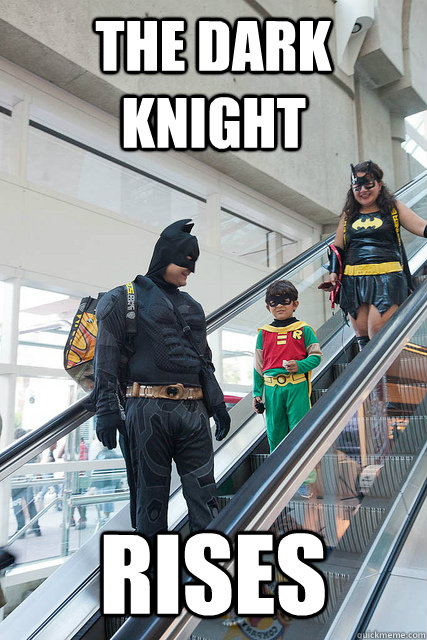 The Dark Knight Rises - The Dark Knight Rises  Escalator Batman