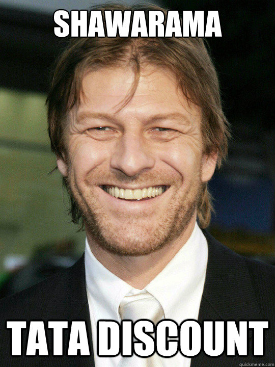 shawarama tata discount - shawarama tata discount  Bad Luck Sean Bean