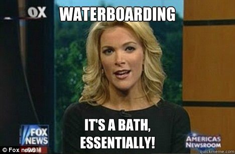 WATERBOARDING It's a Bath, Essentially! - WATERBOARDING It's a Bath, Essentially!  Megyn Kelly