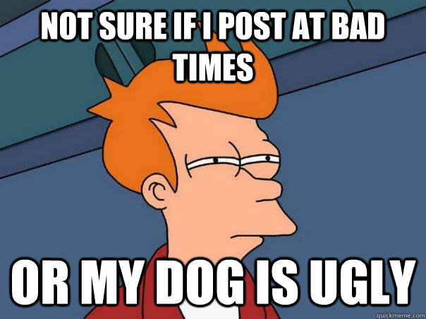 Not sure if i post at bad times Or my dog is ugly - Not sure if i post at bad times Or my dog is ugly  Futurama Fry