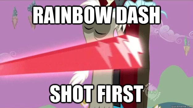 rainbow dash shot first - rainbow dash shot first  RD Shot first